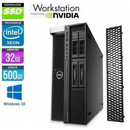 DELL Precision T5820 (NEUVE) Xeon Huit Core W-2140B 32Go 512Go SSD NVidia Quadro M2000 Windows 10 Pro 64 Garantie 2 ANS