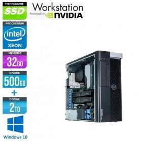Precision T7810 Bi-Xeon Six Core 32Go Ram 512Go SSD Quadro M4000 Windows 10 Pro 64Bits GARANTIE 2 ANS