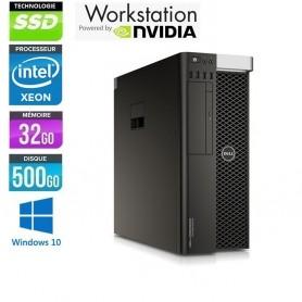 Precision T5810 Xeon 32Go Ram 512Go SSD NVidia Quadro M5000 Windows 10 Pro 64Bits GARANTIE 2 ANS