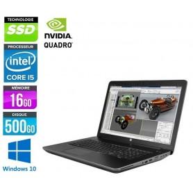 ZBOOK 17 G2 Quad Core i7 16Go Ram 500 SSD LED 17.3'' Windows 10 Pro 64Bits GARANTIE 2 ANS