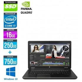 ZBOOK 17 G3 Quad Core i7 16Go Ram 256Go SSD + 1To HDD LED 17.3'' Windows 10 Pro 64Bits GARANTIE CONSTRUCTEUR 01 2021