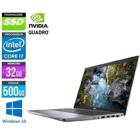 DELL Precision 7520 Quad Core i7 2.9GHz 16Go Ram 256Go SSD LED 15.6'' NVidia M1200m Windows 10 Pro 64 GARANTIE 2 ANS