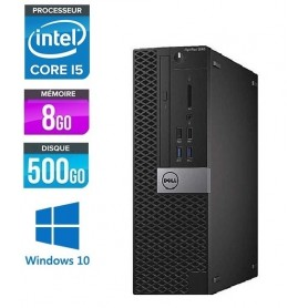 DELL Optiplex 5040 SFF Quad Core i5 8Go 500Go HDD Windows 10 Pro 64Bits GARANTIE 2 ANS