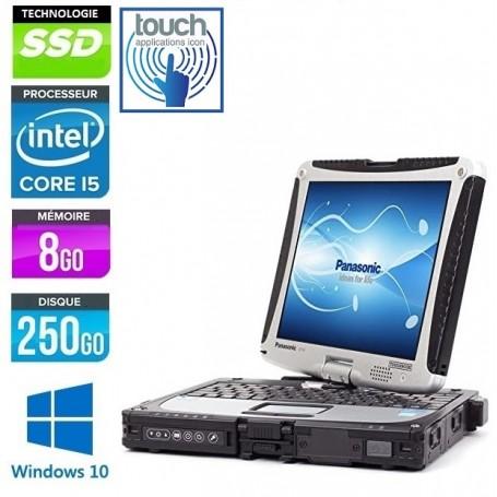 TOUGHBOOK CF-19 MK6 LED 10.4'' 8Go 256Go SSD Carte 3G Windows 10 Pro 64Bits GARANTIE 2 ANS