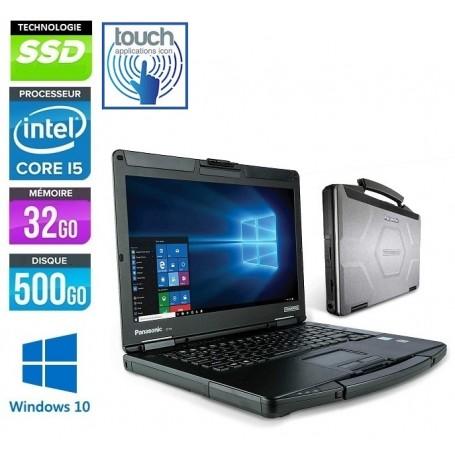 Toughbook CF-54 MK1 Core i5-5300u 8Go 256Go SSD 14'' LED Tactile Windows 10 Pro 64Bits GARANTIE 2 ANS