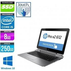 HP Pro X2 612 G2 Tablette tactile LED 12.5'' (1920/1080) Core i5 8Go Ram 256Go SSD + 4G Windows 10 Pro 64 GARANTIE 2 ANS