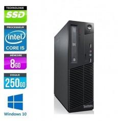 THINKCENTRE M73 Quad Core i5 8Go Ram 256Go SSD Windows 10 Pro 64Bits GARANTIE 2 ANS