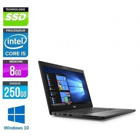 DELL Latitude E7280 Core i5 8Go 256Go SSD LED 12.5'' FULL HD E Poids 1.18Kg Windows 10 Pro 64Bits GARANTIE 2 ANS
