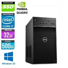 Precision T3620 Six Core i7 64Go DDR4 512Go SSD NVidia P4000 Windows 10 Pro 64Bits GARANTIE 2 ANS