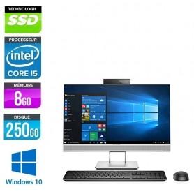HP Elite 800 G3 ''All In One'' Quad Core i5 Ecran 24'' LED Full HD 8Go 256Go SSD NVMe Webcam Windows 10 Pro 64 GARANTIE 2 ANS