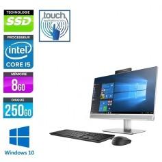 HP Elite 800 G4 AIO 6xCores i5 Ecran 24'' LED Full HD Tactile 8Go 256Go SSD NVMe +256Go SSD Windows 10 Pro 64 GARANTIE 2 ANS