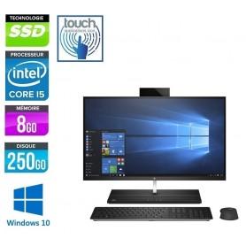 HP Elite 1000 G1 AIO Quad Cores i5-6600 Ecran 24'' LED Full HD Tactile 8Go 256Go SSD NVMe Windows 10 Pro 64 GARANTIE 2 ANS