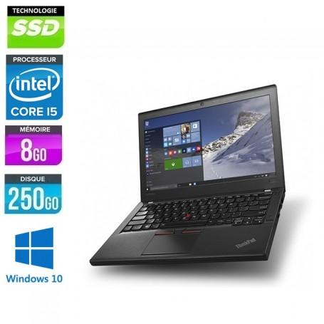 THINKPAD X270 Core i5-7300u LED 12.5'' 8Go Ram 250Go SSD Windows 10 Pro 64Bits GARANTIE 2 ANS