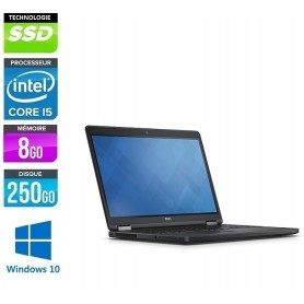 DELL Latitude E5580 Quad Core i5-7440HQ 8Go Ram 256Go SSD LED 15.6'' Full HD Webcam Windows 10 Pro 64Bits GARANTIE 2 ANS