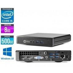 800G1 Core i3 8Go Ram 500Go HDD Windows 10 Pro 64Bits GARANTIE 2 ANS