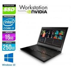 W541 Quad Core i7 LED 15.6'' 16Go 256Go SSD NVidia K1100m Windows 7 Pro 64Bits GARANTIE 2 ANS