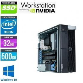 Precision T7810 Xeon Huit Core E5-2630v3 32Go Ram 512Go SSD NVidia Quadro M4000 Windows 10 Pro 64Bits GARANTIE 2 ANS