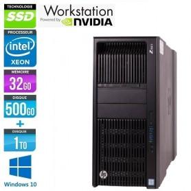 HP Z840 2x Intel Xeon (24x cores) E5-2678v3 32Go Ram 480Go SSD + 1To NVIDIA Quadro K42000 Windows 10 Pro 64Bits GARANTIE 2 ANS