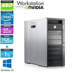 Z820 Xéon Quad Core 32Go Ram 256Go SSD + 1To HDD Quadro K4000 Windows 10 Pro 64Bits GARANTIE 2 ANS