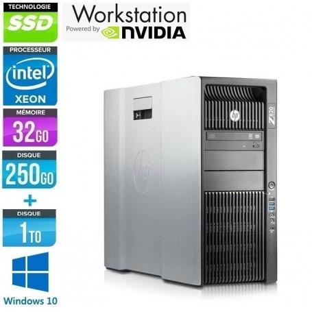 Z820 Xéon Quad Core Xéon 32Go Ram 256Go SSD + 1To HDD Quadro K4000 Windows 10 Pro 64Bits GARANTIE 2 ANS