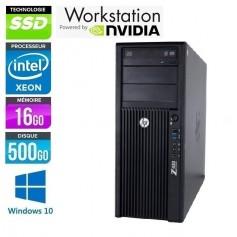 Z420 Intel Xéon E5-1607 16Go 500Go SSD NVidia Quadro K4000 Windows 10 Pro 64Bits GARANTIE 2 ANS