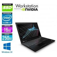 P50 Quad Core i7 LED 15.6'' 16Go Ram 256Go SSD NVidia M2000m Windows 10 Pro 64Bits GARANTIE 2 ANS